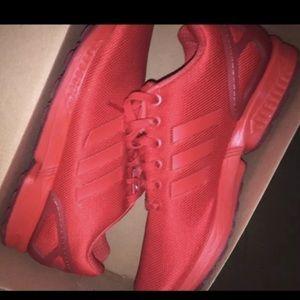 Adidas Flux zx triple Red- Size 7Y/ Men 7/ WMS 8.5
